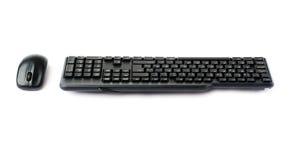 Svart tangentbord som isoleras över vit bakgrund Arkivfoton