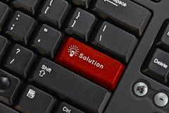 svart tangentbordPC Royaltyfri Foto
