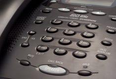svart tangentbordtelefon Fotografering för Bildbyråer