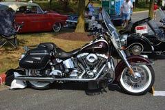 Svart tappning Harley Deluxe Davidson Fotografering för Bildbyråer