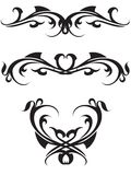 svart tatuering Royaltyfria Foton