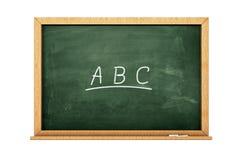 Svart tavla för ABS Arkivbild