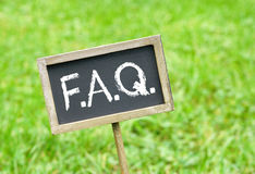 Svart tavla för FAQ Royaltyfri Foto