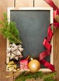 Svart tavla för jul Fotografering för Bildbyråer