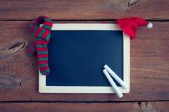 Svart tavla för jul Arkivfoton