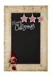 Svart tavla för nya år för glad jul royaltyfri bild