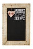 Svart tavla för nya år för glad jul arkivbilder