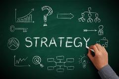 Svart tavla för strategi Arkivbild