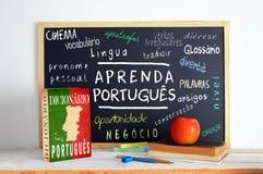 Svart tavla i en portugisisk grupp Royaltyfri Bild