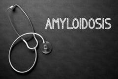 Svart tavla med Amyloidosis illustration 3d Royaltyfria Bilder