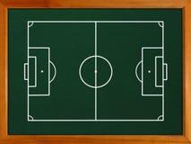 Svart tavla med fotbollfältet Royaltyfri Foto
