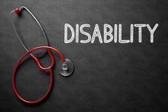 Svart tavla med handikapp illustration 3d Arkivbild