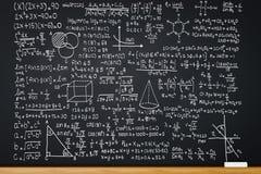 Svart tavla med matematikformel royaltyfri illustrationer