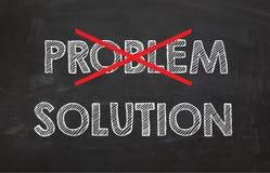 Svart tavla med ordproblem- och lösnings`, Royaltyfri Bild
