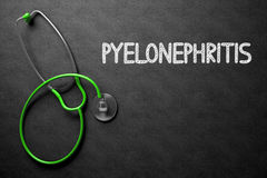 Svart tavla med Pyelonephritisbegrepp illustration 3d Royaltyfri Fotografi