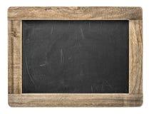 Svart tavla med träramen isolerad blackboard Royaltyfria Bilder