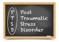 Svart tavla PTSD stock illustrationer