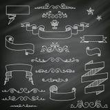 Svart tavlabeståndsdelar Arkivfoto