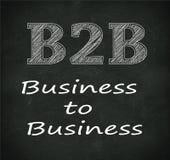 Svart tavlaillustration av b2b - affär till affären Arkivfoto