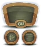 Svart tavlasymboler för skola för den Ui leken stock illustrationer