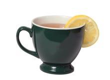 Svart tea med citronen Arkivbild