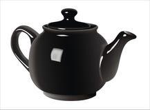 svart teapot royaltyfri fotografi