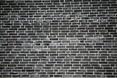 svart tegelstenvägg Royaltyfria Bilder