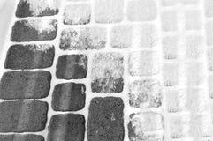 svart tegelstenwhite Arkivfoton