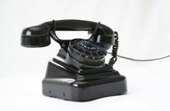 svart telefon Arkivfoto