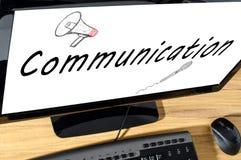svart telefon för kommunikationsbegreppsmottagare Arkivbilder
