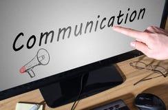 svart telefon för kommunikationsbegreppsmottagare Arkivbild