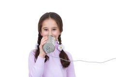 svart telefon för kommunikationsbegreppsmottagare royaltyfri fotografi