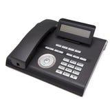 svart telefon Isolat på vitbakgrund Arkivfoto