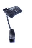 Svart telefon med det tagna av röret Royaltyfri Fotografi