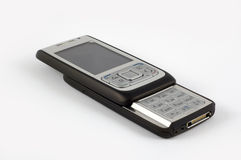 svart telefonglidare Arkivfoto