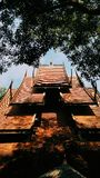 Svart tempel på norden av Thailand royaltyfria bilder