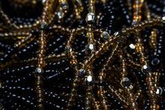 Svart textur av pärlor Storen specificerar! arkivbilder