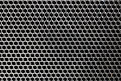 Svart textur för järnhögtalareraster Royaltyfri Fotografi
