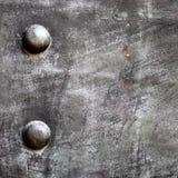 Svart textur för metallplatta eller pansarmed nitar Royaltyfri Fotografi