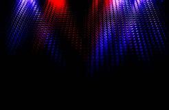 Svart texturerad bakgrund med blått och rött ljus Royaltyfria Foton