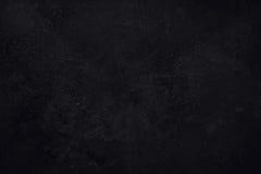 Svart texturerad grungebakgrund Arkivbilder