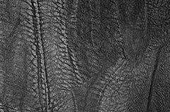 Svart texturerat läder Royaltyfri Foto