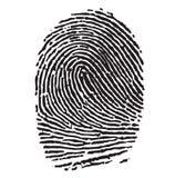 svart thumbprint Arkivfoton