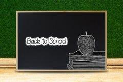 Svart till skolabegreppet Svart svart tavlatextur med text och Arkivbilder