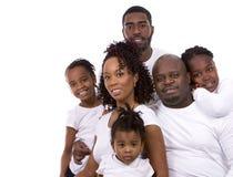 Svart tillfällig familj royaltyfria foton
