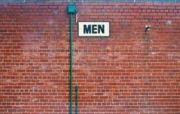 Svart toaletttecken royaltyfri fotografi