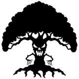 Svart träd för tecknad film. Royaltyfria Bilder