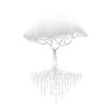 svart tree royaltyfri illustrationer