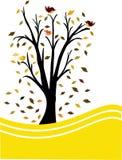 svart treeyellow för bakgrund royaltyfri illustrationer