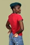svart trendig kvinna Arkivfoton